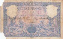 France 100 Francs Rose et Bleu - 06-04-1892 - Série S.1208 - avec manques