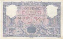 France 100 Francs Rose et Bleu - 12-02-1904 Série T.3973 - TTB