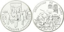 France 100 Francs Silver Liberation of Paris 1944 - 1994 - Essai - Silver