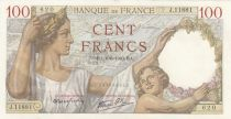 France 100 Francs Sully -  06-06-1940 - Serial J.11881