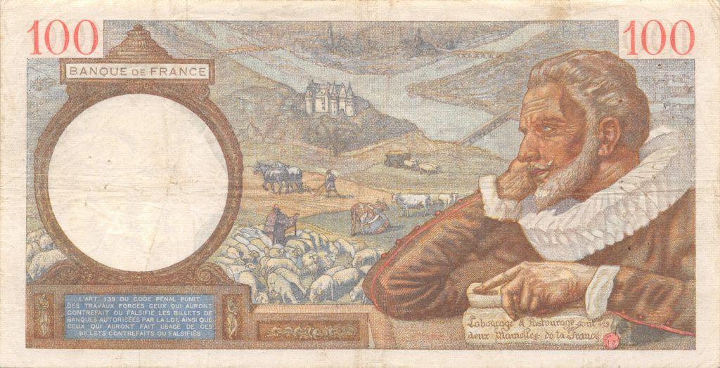 France 100 Francs Sully - 02-05-1940 Série G.10066 - TTB
