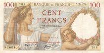 France 100 Francs Sully - 02-10-1941 Serial N.24674 - VF+
