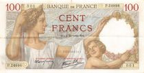 France 100 Francs Sully - 02-10-1941 Serial P.24896 - VF+