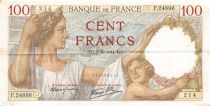 France 100 Francs Sully - 02-10-1941 Serial P.24896 - VF