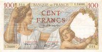 France 100 Francs Sully - 02-10-1941 Serial U.24896 - VF+
