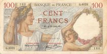 France 100 Francs Sully - 02-11-1939 Serial Q.4028 - VF