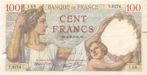 France 100 Francs Sully - 04-04-1940 Serial Y.9174 - F+