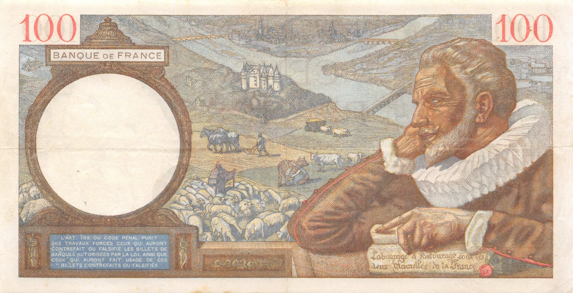 France 100 Francs Sully - 04-04-1940 Série Z.9480 - TTB
