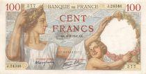 France 100 Francs Sully - 04-09-1941 Serial J.24346 - VF+