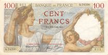 France 100 Francs Sully - 04-09-1941 Serial Q.24200 - VF