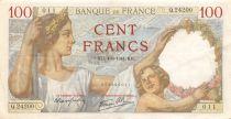France 100 Francs Sully - 04-09-1941 Serial Q.24200 - VF