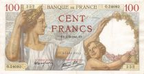 France 100 Francs Sully - 04-09-1941 Série O.24093 - TTB