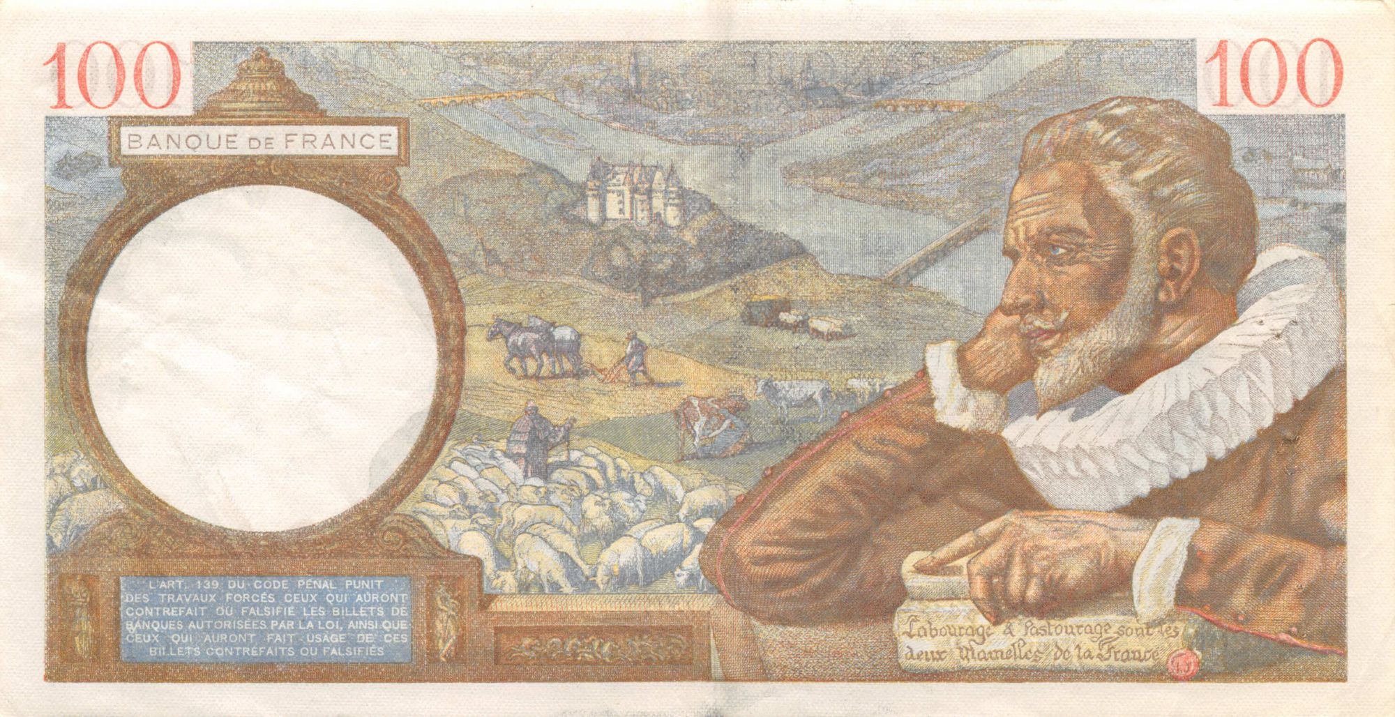 France 100 Francs Sully - 04-09-1941 Série Q.24200 - TTB