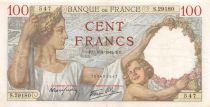 France 100 Francs Sully - 05-03-1942 Serial S.29180 - VF+