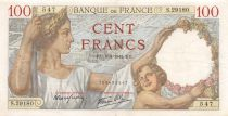 France 100 Francs Sully - 05-03-1942 Serial S.29180 - VF+