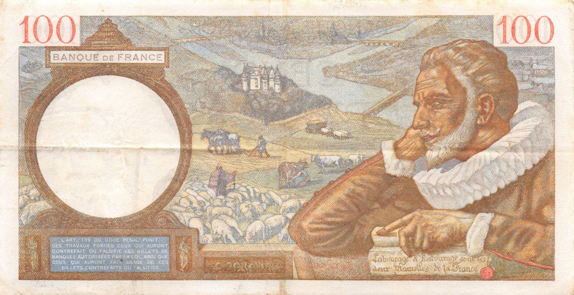 France 100 Francs Sully - 05-03-1942 Série S.28896 - TTB