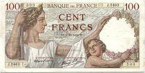 France 100 Francs Sully - 05-10-1939 Serial J.2463 - VF