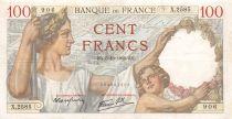 France 100 Francs Sully - 05-10-1939 Serial X.2585 - VF