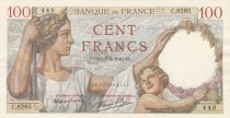 France 100 Francs Sully - 07-03-1940 Serial C.8283