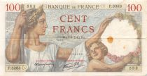 France 100 Francs Sully - 07-03-1940 Serial P.8383 - VF