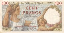 France 100 Francs Sully - 07-11-1940 Serial U.15852 - VF