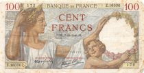 France 100 Francs Sully - 07-11-1940 Serial Z.16030 - F to VF