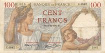 France 100 Francs Sully - 07-12-1939 Serial C.4842 - VF