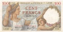 France 100 Francs Sully - 07-12-1939 Serial L.5148 - VF