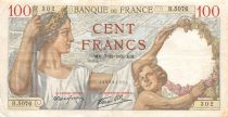 France 100 Francs Sully - 07-12-1939 Serial R.5076 - VF