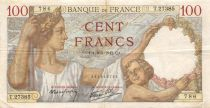 France 100 Francs Sully - 08-01-1942 Serial T.27385 - VF