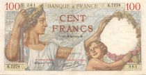 France 100 Francs Sully - 08-02-1940 Serial K.7278 - VF