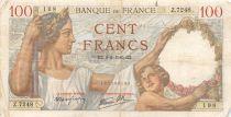 France 100 Francs Sully - 08-02-1940 Serial Z.7248 - F