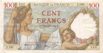 France 100 Francs Sully - 08-06-1939 Serial Z.190 - F to VF