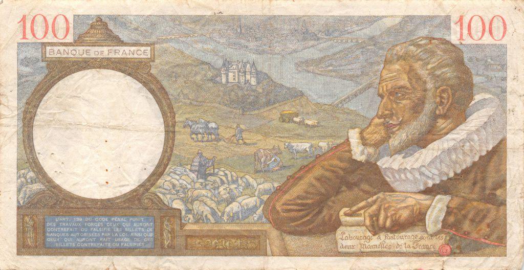France 100 Francs Sully - 08-06-1939 Série O.120 - PTTB