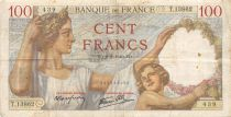 France 100 Francs Sully - 08-08-1940 Serial T.13862 - F