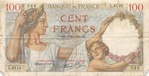France 100 Francs Sully - 09-11-1939 Serial L.4110 - VG to F