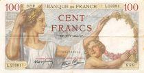 France 100 Francs Sully - 10-07-1941 Serial L.23391 - VF