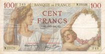 France 100 Francs Sully - 10-07-1941 Serial M.23128 - F