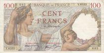 France 100 Francs Sully - 11-01-1940 - Serial V.6333