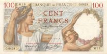 France 100 Francs Sully - 11-01-1940 Serial O.6429 - VF