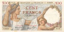 France 100 Francs Sully - 11-01-1940 Serial O.6429 - VF