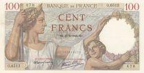 France 100 Francs Sully - 11-01-1940 Serial O.6513
