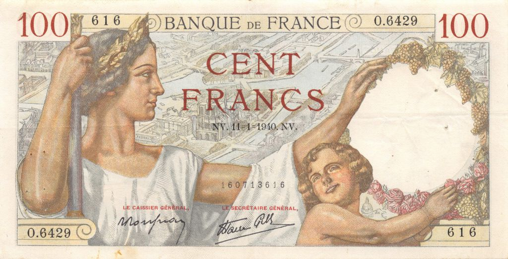 France 100 Francs Sully - 11-01-1940 Série O.6429 - TTB