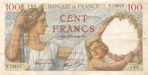 France 100 Francs Sully - 11-07-1940 Serial V.12615 - F+