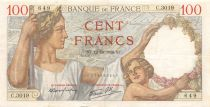 France 100 Francs Sully - 12-10-1939 Serial C.3019 - VF