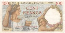 France 100 Francs Sully - 12-10-1939 Serial P.2985 - VF