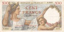 France 100 Francs Sully - 12-10-1939 Serial R.2602 - F