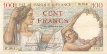 France 100 Francs Sully - 12-10-1939 Serial W.2941 - VF