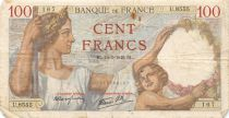 France 100 Francs Sully - 14-03-1940 Serial U.8555 - F
