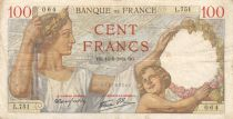 France 100 Francs Sully - 14-09-1939 Serial L.751 - F